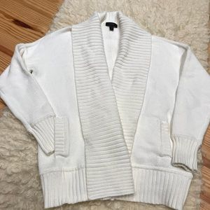 J.Crew summer WHITE cotton blend shawl cardigan XS
